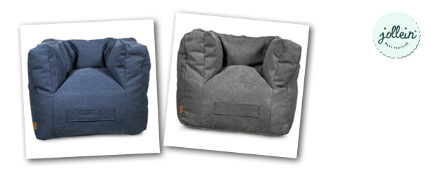 Jollein Fauteuil Stonewashed Canvas