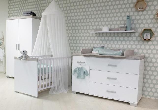Hoogte Commode Babykamer : Transland ledikant 60 120 commode 3 laden 1 deur hanglegkast 2