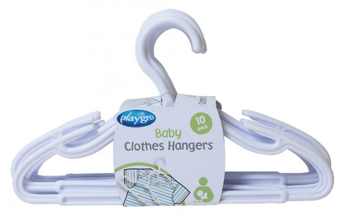 Playgro Kledinghanger Plastic Wit (10 stuks)