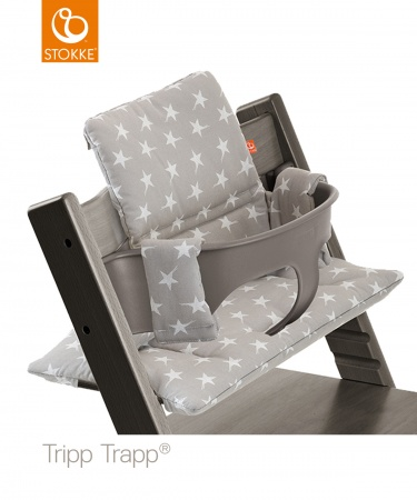 Stokke tripp trapp classic cushion grey star coated for Seggiolone stokke tripp trapp usato