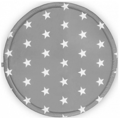 Jollein Boxkleed Rond Plastic Little Star Dark Grey