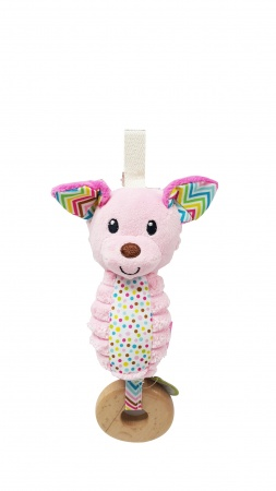Infantino Go Gaga Chime Pink Dog