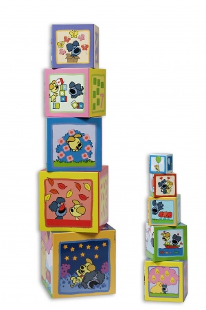 Bambolino Woezel en Pip Kartonnen Stapelblokken