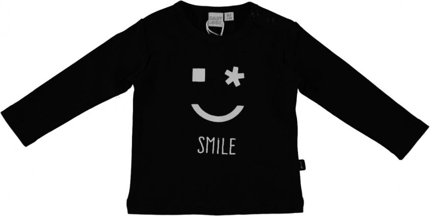 Babylook T-Shirt Smile Zwart
