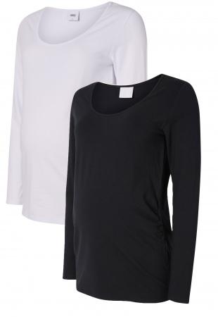 Mamalicious Top Organic Lea Black/White