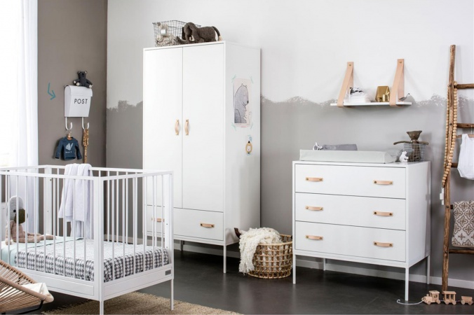 Coming Kids Ledikant 60-120 / Commode 3 laden Bliss Wit