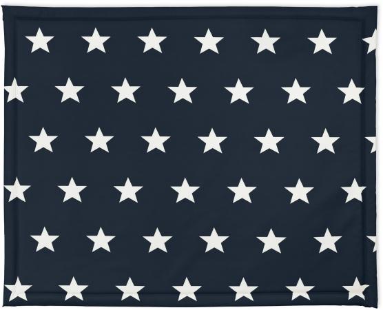 Jollein Boxkleed Little Star Navy<br> 75 x 95 cm