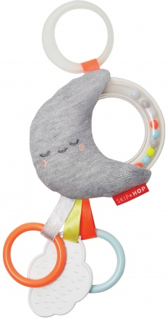 Skip Hop Silver Lining Cloud Rattle Moon Stroller Toy