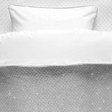 Noukie's Dekbedovertrek Sublime Grijs/Zilver<br> 100 x 140 cm