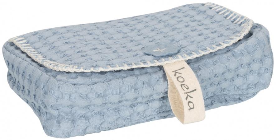 Koeka Hoes Voor Babydoekjes Antwerp <br>Soft Blue