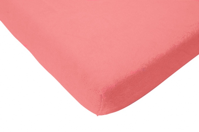 Hoeslaken Jersey Coral Pink<br> 60 x 120 cm
