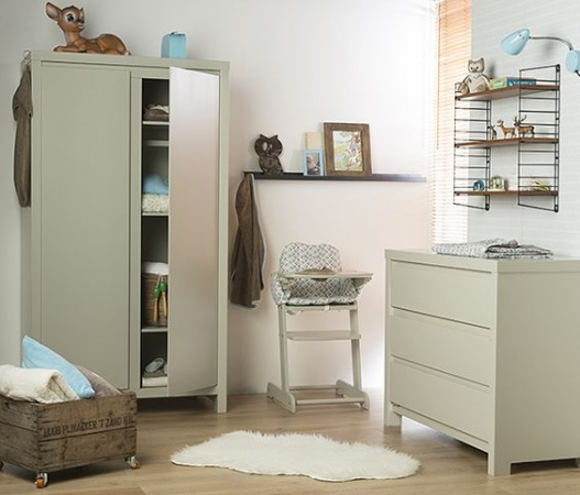 Pericles Ledikant 60-120 Inclusief 1-Persoonsbed / Commode 3 Laden Monaco Mastique