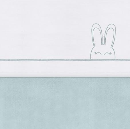 Jollein Laken Sweet Bunny Green<BR> 75 x 100 cm
