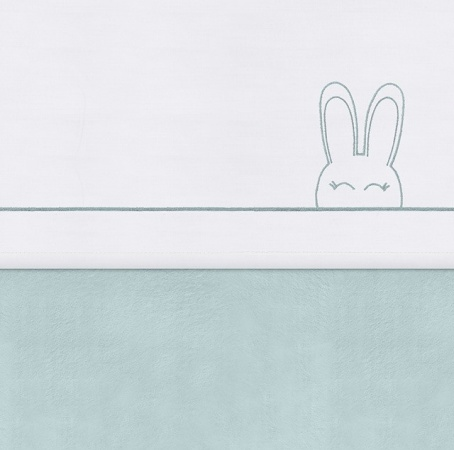 Jollein Laken Sweet Bunny Green<br> 120 x 150 cm