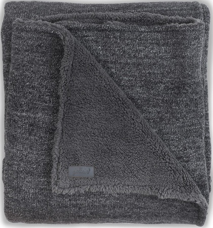 Jollein Deken Teddy Natural Knit Anthracite 75 x 100 cm