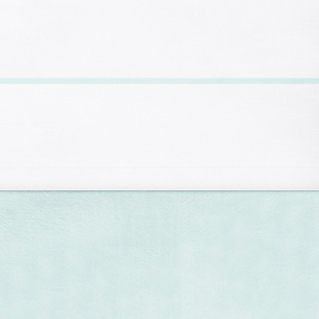 Jollein Laken Wit Met Bies Jade<br> 120 x 150 cm