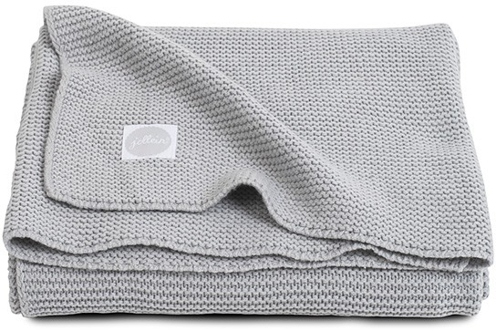 Jollein Deken Basic Knit Light Grey 100 x 150 cm