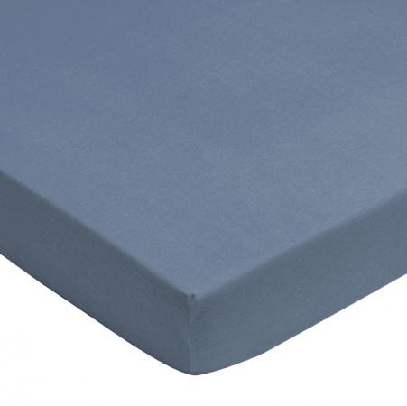 Jollein Hoeslaken Jersey Faded Blue <br> 60 x 120 cm