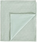 Cottonbaby Ledikantdeken Gevoerd Driehoek Mint<br/ > 120 x 150 cm