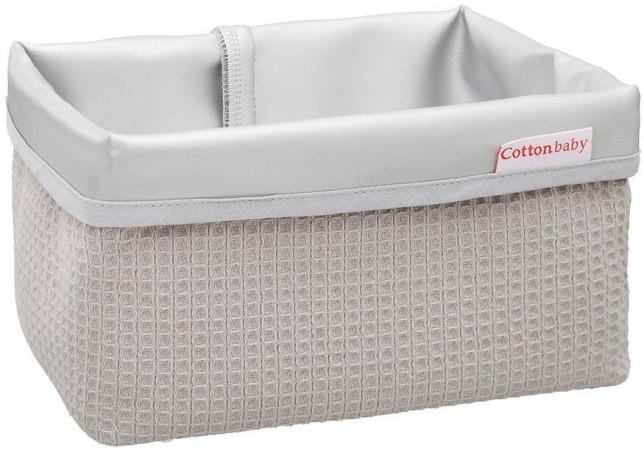 Cottonbaby Commodemandje Wafel Lichtgrijs