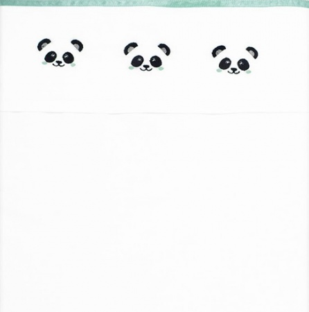 Fabs World Laken Panda Jade Borduur<br> 100 x 150 cm