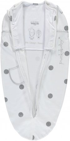 Puckababy Original Mini<br> White Dotty 3-6 mnd