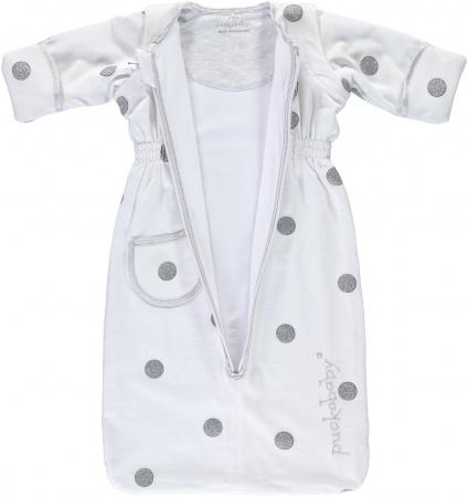 Puckababy Bag Newborn<br> White Dotty 0-6 mnd