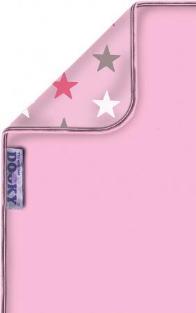 Dooky Deken Katoen Pink/Pink Stars 70 x 85 cm