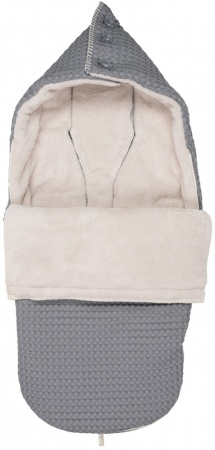 Buggy Voetenzak Wafel/Teddy Oslo Steel Grey/Pebble