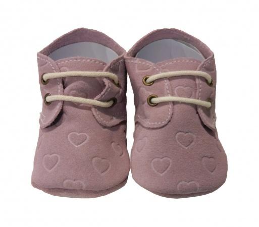 XQ Little Shoes Schoentje Hearts Pink