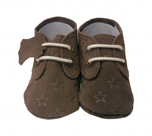 XQ Little Shoes Schoentje Stars Taupe