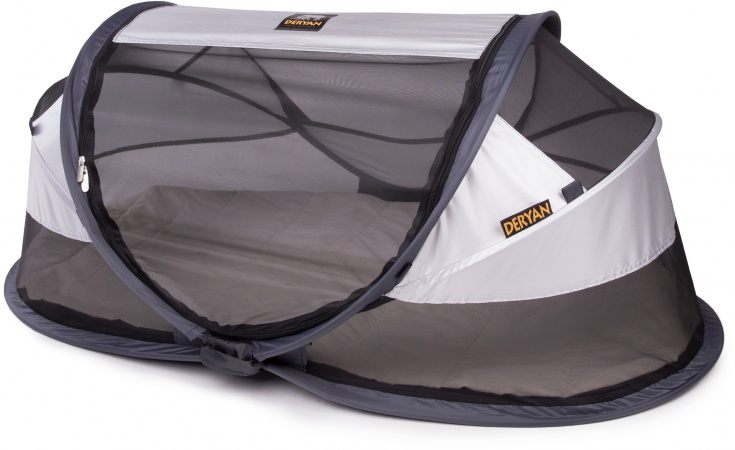 Deryan Travel-Cot <br>Baby Luxe Silver