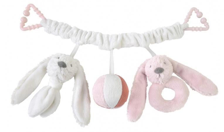 Happy Horse Rabbit Richie Pink Pramtoy 42 cm