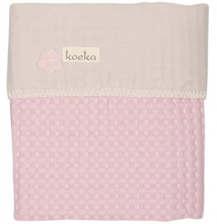 Koeka Wiegdeken Wafel/Flanel Antwerp Old Baby Pink