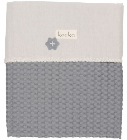 Koeka Wiegdeken Wafel/Flanel Antwerp Steel Grey/Pebble