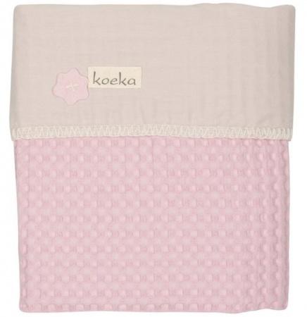 Koeka Ledikantdeken Wafel/Flanel Antwerp Old Baby Pink