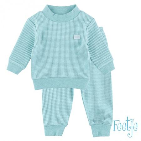 Feetje Pyjama Wafel Groenmelee