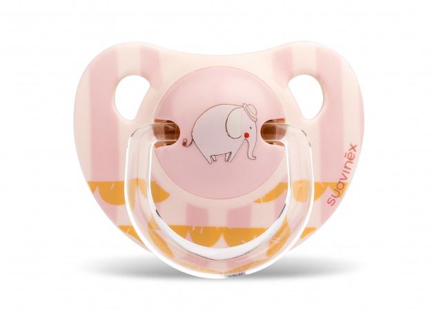 Suavinex Fopspeen Pink Elephant <br>  0-6mnd