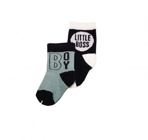 Babylook Sok 2-Pack Little Boss/Boy