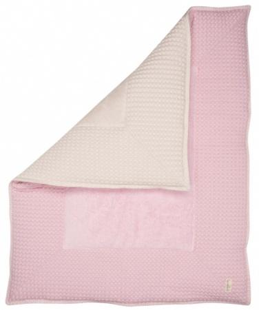 Koeka Boxkleed Wafel Amsterdam Old Baby Pink/Pebble<br> 75 x 95 cm