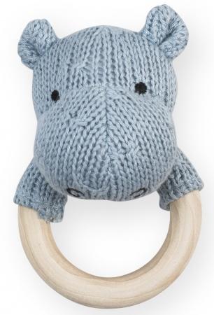 Jollein Rammelaar Soft Knit Hippo Soft Blue