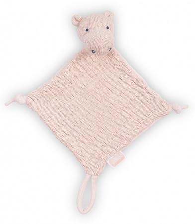 Jollein Knuffeldoek Soft Knit Hippo Creamy Peach