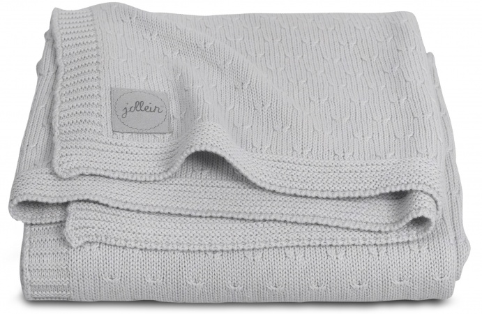 Jollein Deken Zomer Soft Knit Light Grey 100 x 150 cm