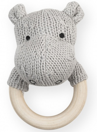 Jollein Rammelaar Soft Knit Hippo Light Grey