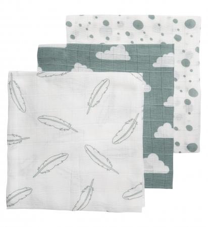 Meyco Hydrofiele Luiers 3pack <br> Feather Jade