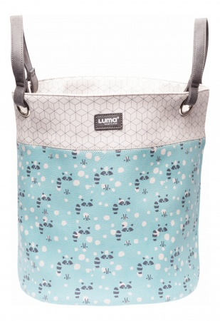 Luma Toy Basket Medium Racoon Mint
