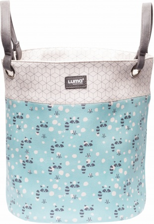 Luma Toy Basket Large Racoon Mint