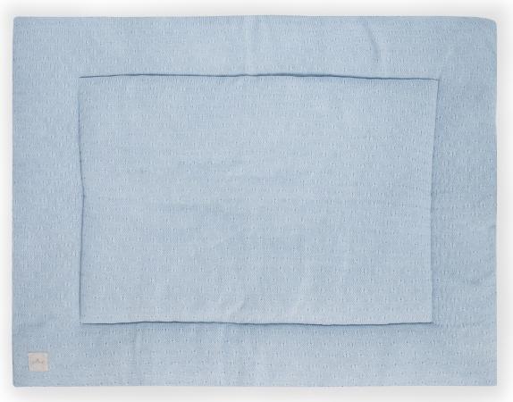 Jollein Boxkleed Soft Knit Soft Blue<br> 80 x 100 cm