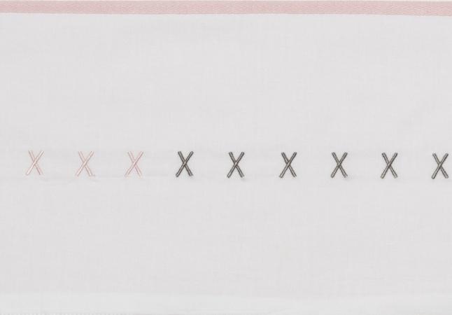 Meyco Laken XXX Grijs/Roze <br> 75 x 100 cm