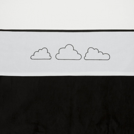 Meyco Laken Little Clouds Zwart <br> 75 x 100 cm